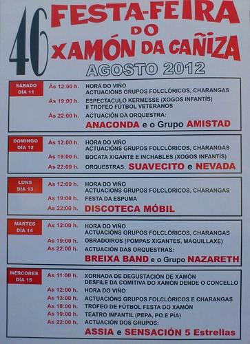A Cañiza 2012 - Feira do xamón - cartel
