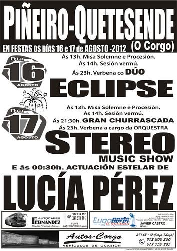 O Corgo 2012 - Festas en Piñeiro-Quetesende - cartel