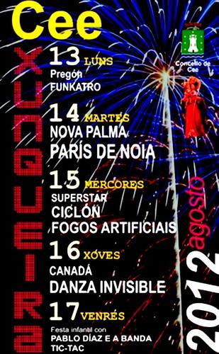 Cee 2012 - Festas da Xunqueira - cartel