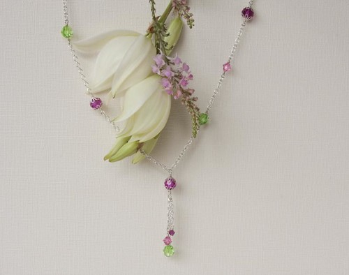 BAC for Jennifer 13 pink green necklace 1a