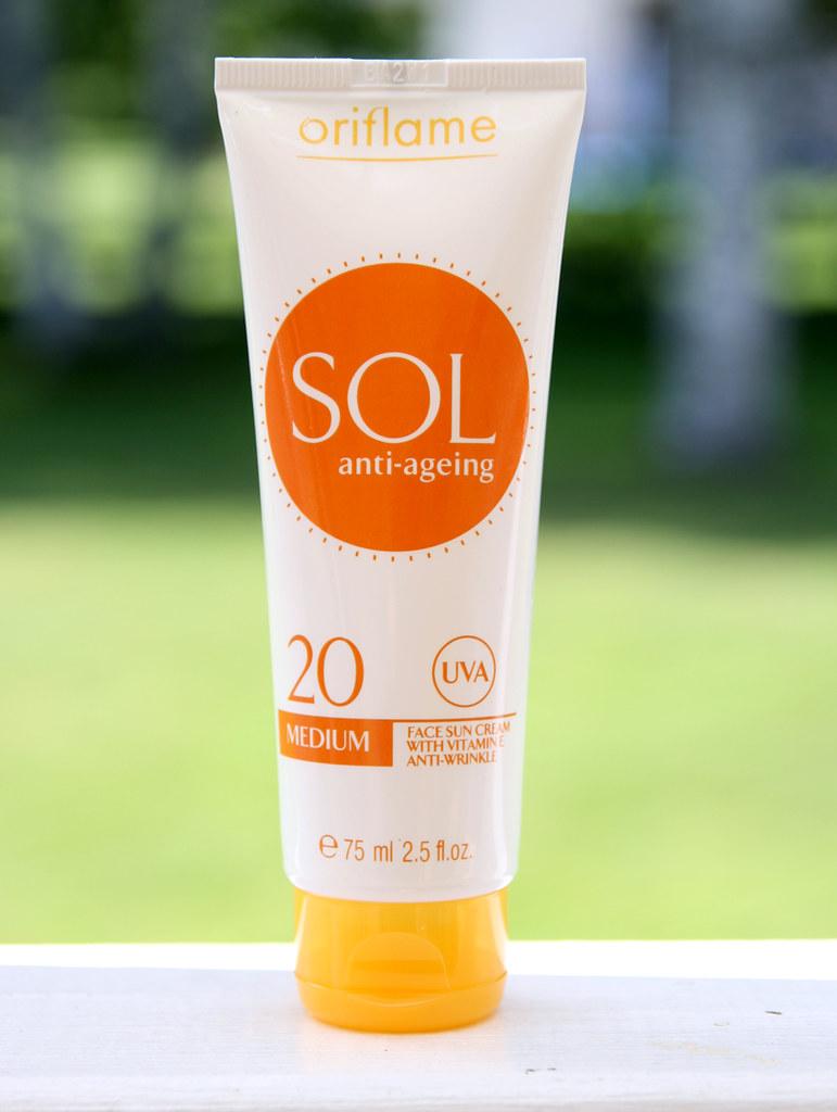 Oriflame sol face sun cream spf20