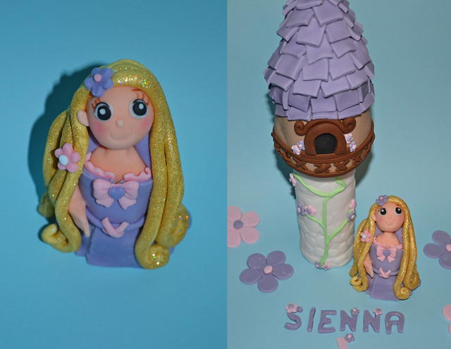 rapunzel tower cake topper