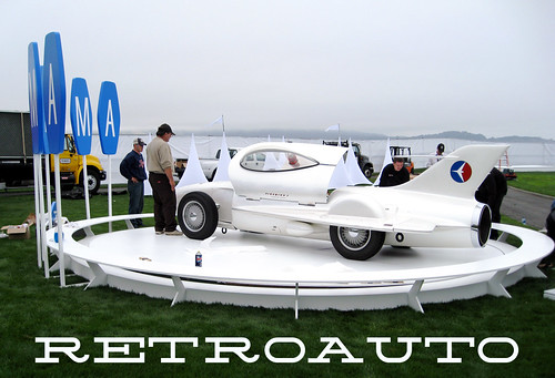 retro concept cars at concours d'elegance pebble beach