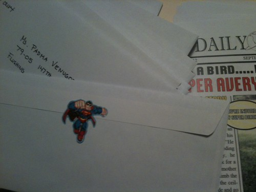 superman party invitation envelope