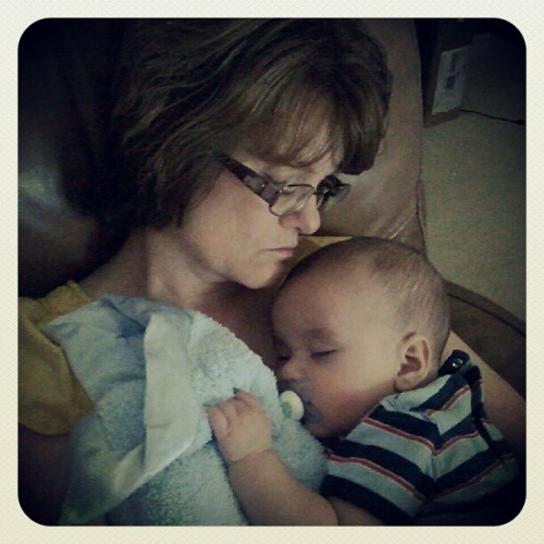 a little snuggle nap with gammy. @gracefullygf