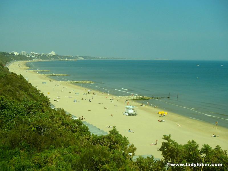 Bournemouth beach from Branksome Chine