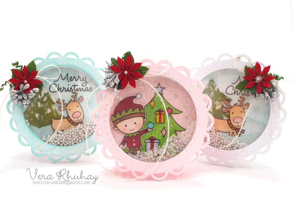 Christmas Shaker Card full set