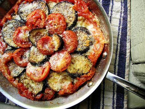 eggplant tomato quinoa gratin