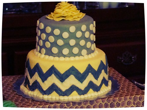 the amazing cake that matches the nursery colors!