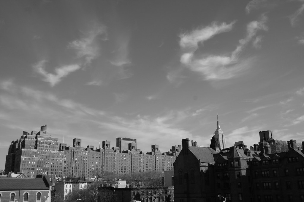 Roof tops BW