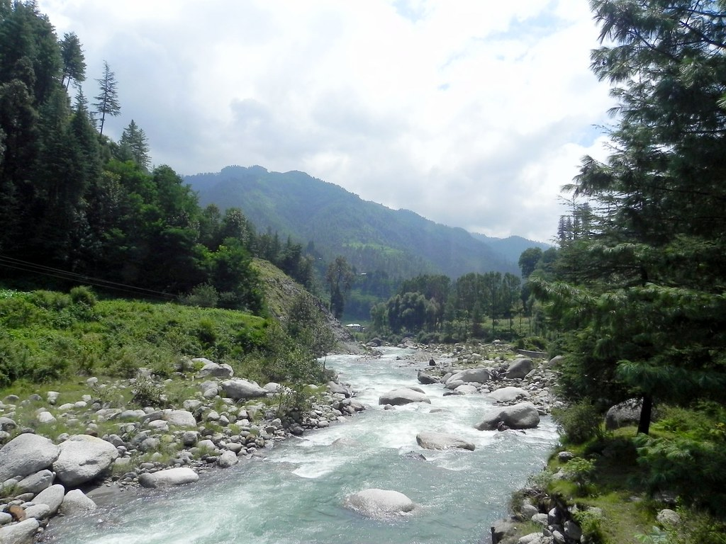 Uhl river in Barot valley , Himachal Pradesh