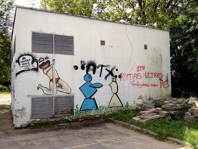 Graffiti near Polish school