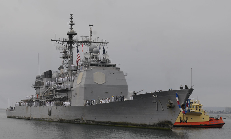USS Cape St. George (CG 71) Homecoming August 2012