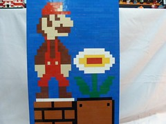 Come on, Give it a Spin! Video of Mario Meets Fire Flower Rotating Mosaic