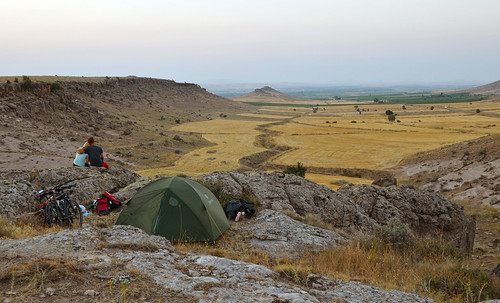Campsite over a vally near Ihlara