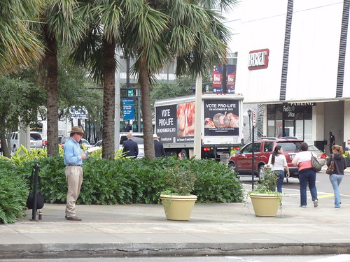 Man reading bible out loud at Gaslight Park