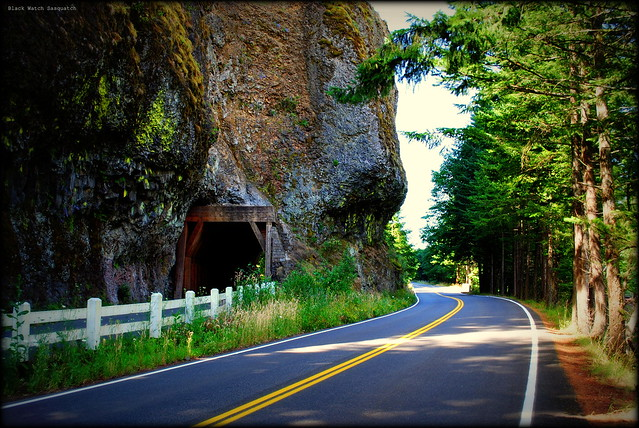 Historic Columbia River Hwy at Oneonta Gorge