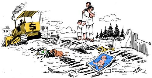 Remoções forcadas, por Latuff