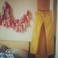 hi new mustard pants. I like you & we're going to be great friends. #freepeople