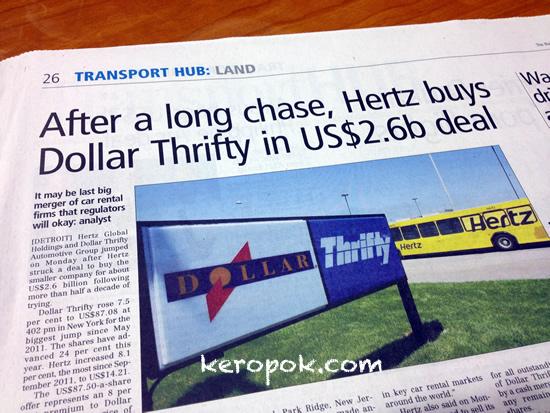 Hertz buys Thrifty