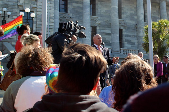 Tau Henare speaking in support