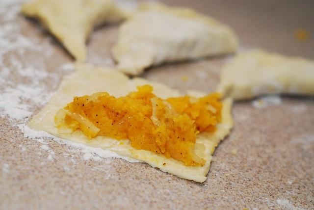 Butternut squash turnovers recipe