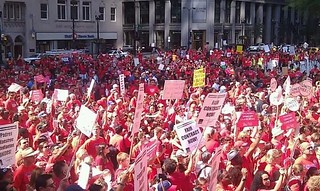 Chicago teachers on strike photographer unknown