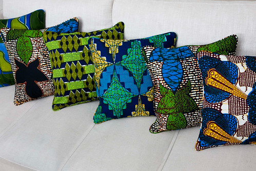 Cushions by La Petite Congolaise © Hannah Pool