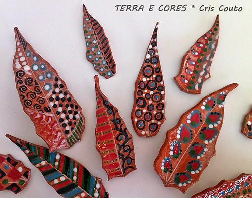 Folhas de cerâmica pintadas by cris couto 73