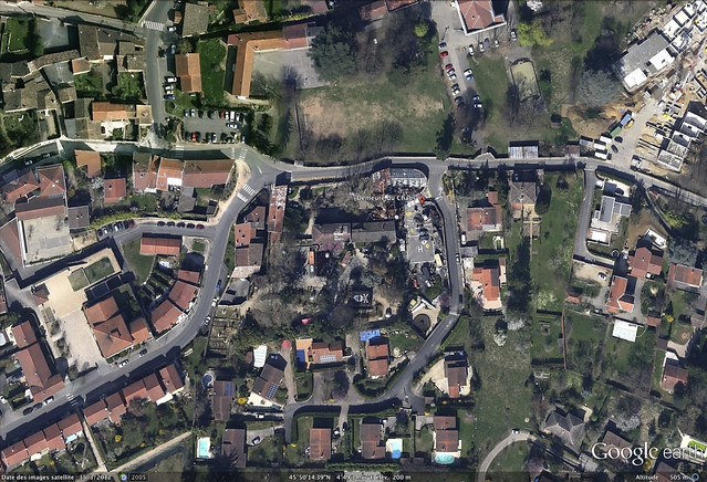 Vue satellite par Google Earth 2012