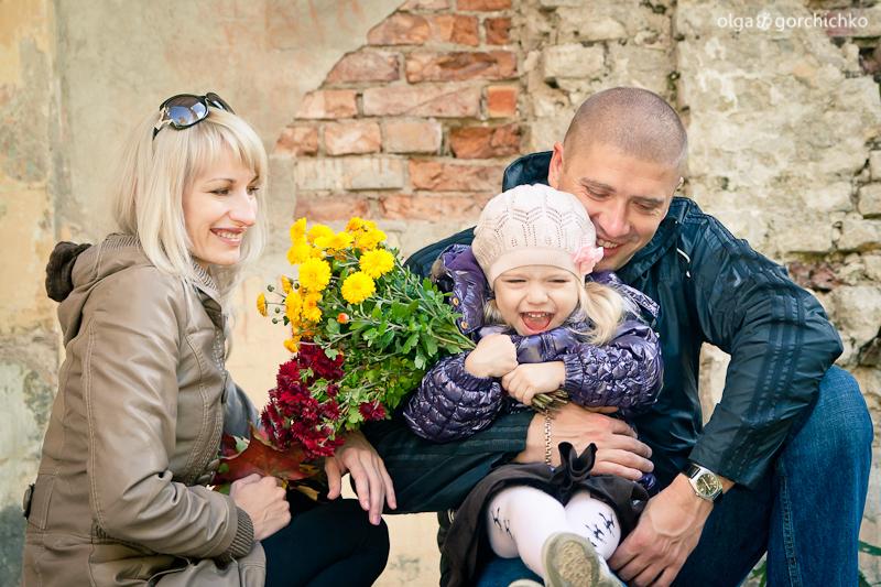 Осенняя фотосессия Машеньки в Свяцке