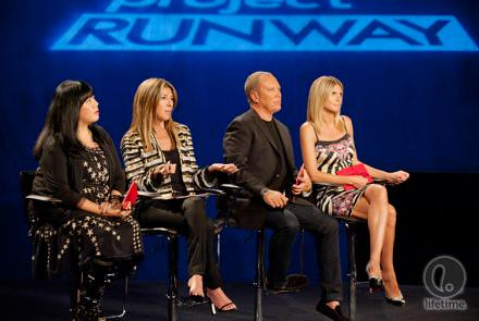 the judges on the runway