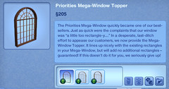 Priorities Mega Window Topper