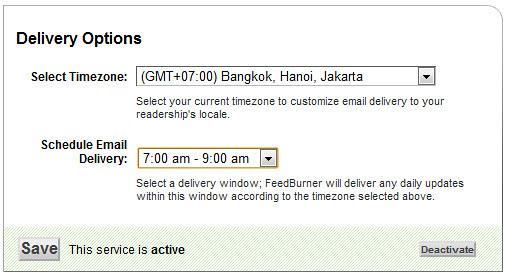 Hướng dẫn gửi bản tin đặc biệt qua email với Feedburner 226