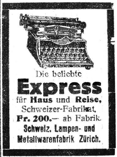 Express Schreibmaschine 1923