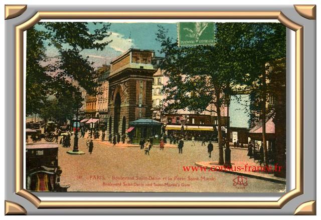 PARIS - Boulevard Saint-Denis et la Porte Saint-Martin. -70-150