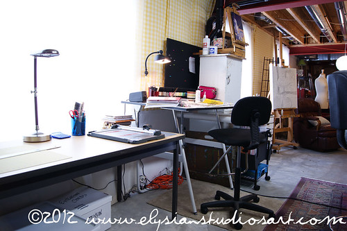 Studio- Fabric and Drawing Table