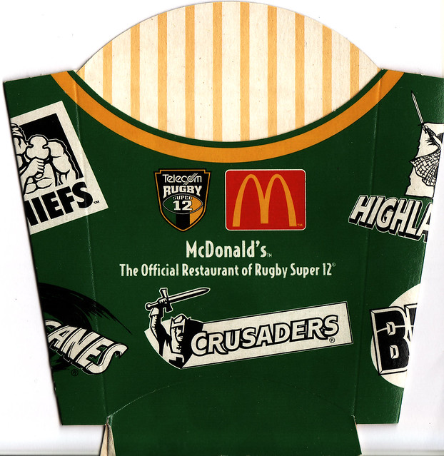 2000 McDonalds Rugby Super 12 French Fries Box