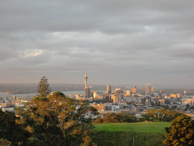 View of Auckland Skyline from Mt Eden by Jessica Moros