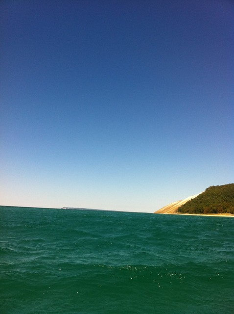 Lake Michigan, from the kayak