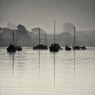 Burning Off The Morning Mist - Kingsbridge Estuary, South Hams, Devon.