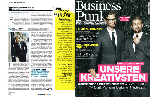 Business Punk TOP 50 Creative Entrepreneurs Germany