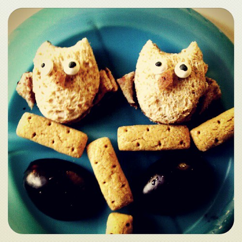 O is for owl lunch.