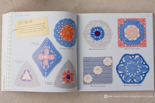75 Floral Blocks to Crochet Book