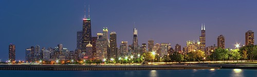 city chicago skyline architecture evening illinois downtown pentax dusk searstower lakemichigan lakeshoredrive chi northside bluehour hancock trump hdr windycity fullertonavenue willistower pentaxk5 briankoprowski bkoprowski