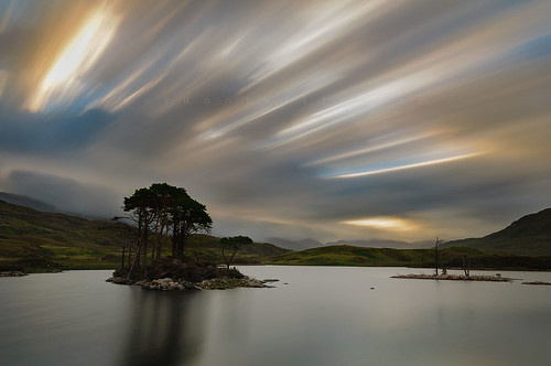 longexposure morning trees cloud water landscape scotland highlands nikon sutherland assynt d90 lochassynt bw110nd