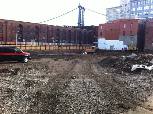Dock Street Dumbo construction site