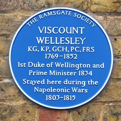 Photo of Arthur Wellesley blue plaque