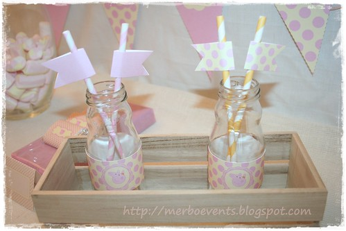 etiquetas botellines Merbo Events Kit Peppa Pig