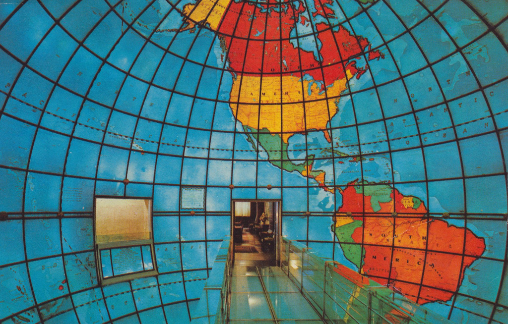 Inside the Mapparium at The Christian Science Publishing Society, Boston